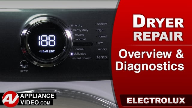 Electrolux EFME517SIW0 Dryer – Overview / Diagnostics