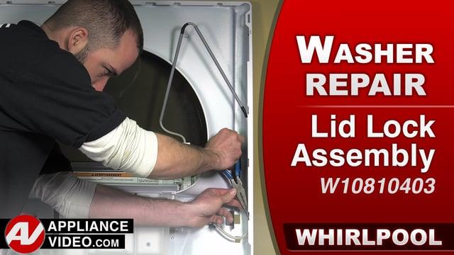 Whirlpool WTW7500GW0 Washer – F5E2 F5E3 or F5E4 Error – Lid Lock Assembly