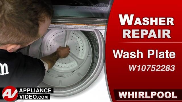 Whirlpool WTW7500GW0 Washer – F7E2 F7E3 or F7E4 Error – Wash Plate