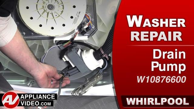 Whirlpool WTW7500GW0 Washer – F9E1 or F9E2 Error – Drain Pump