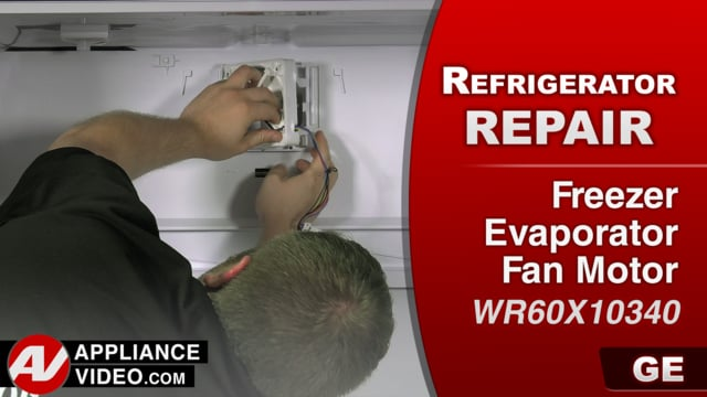 GE GFE28GSKISS Refrigerator – No cool in the freezer section – Freezer Evaporator Fan Motor