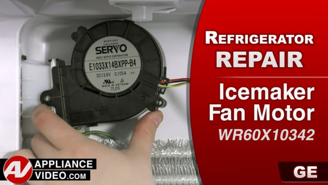 GE GFE28GSKISS Refrigerator – No ice production – Icemaker Fan Motor