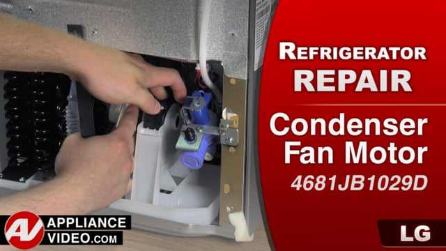 LG LFX25974ST Refrigerator – Freezer not cooling – Condenser Fan Motor