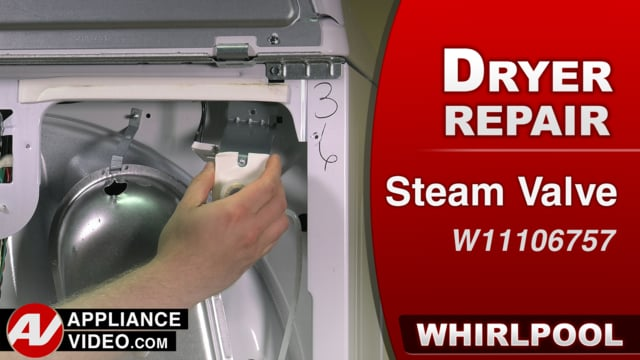 Whirlpool WED7300DW1 Dryer – Leaking water – Steam Valve