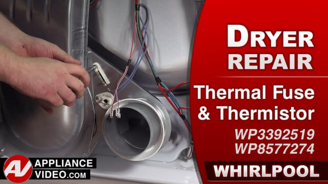 Whirlpool WED7300DW1 Dryer – Not heating properly – Thermal Fuse