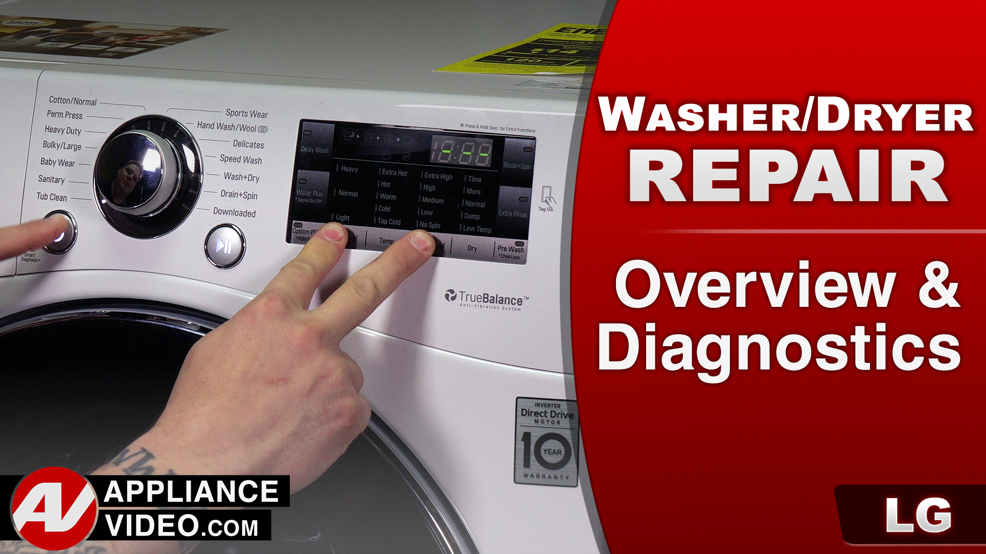 LG WM3488HW Washer – Overview / Diagnostics