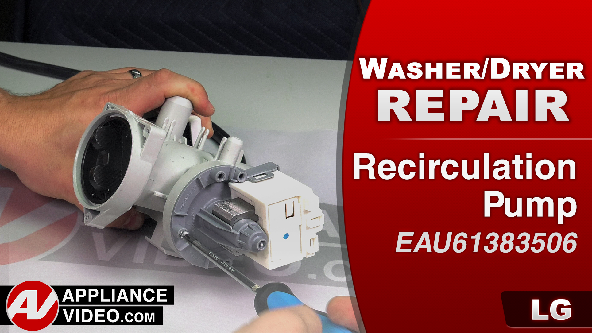 LG WM3488HW Washer – Poor wash performance – Recirculation Pump