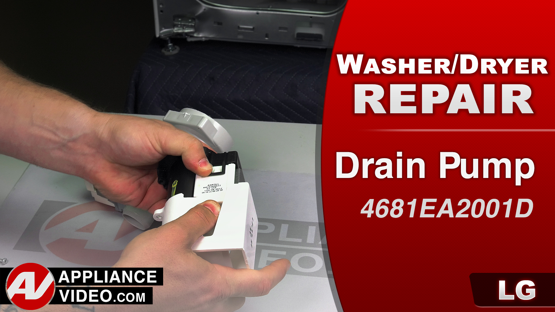 LG WM3488HW Washer – OE Error code – Drain Pump