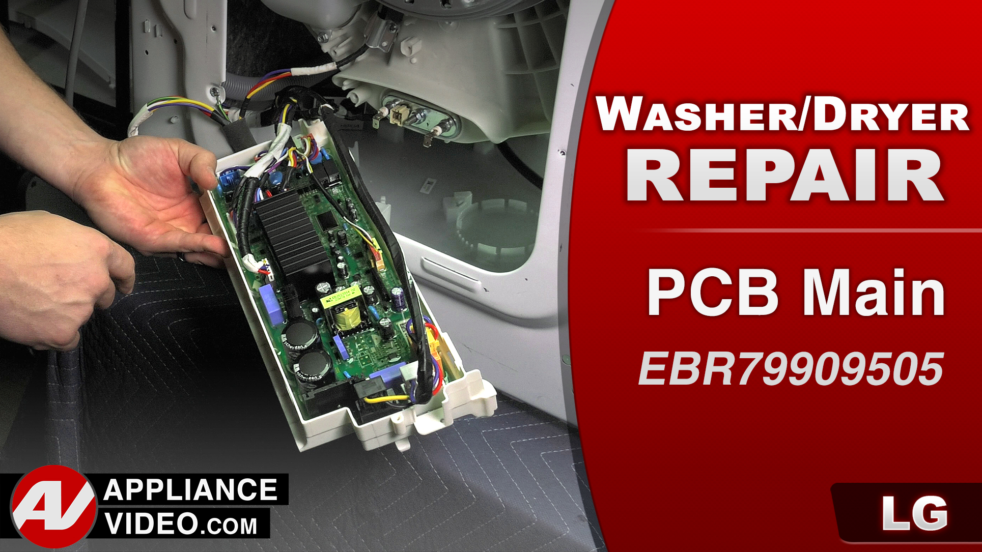 LG WM3488HW Washer – PF Error Code – PCB Main