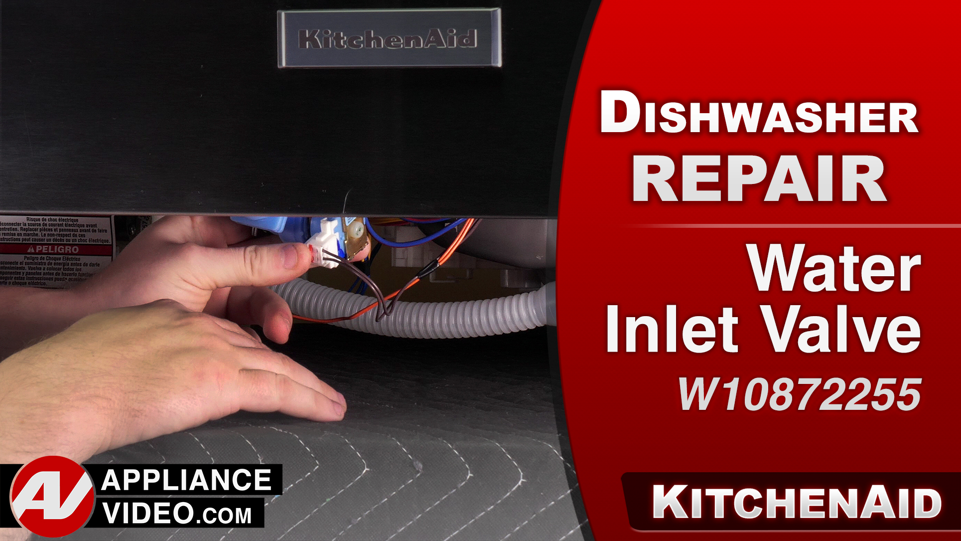 KitchenAid KDTM354ESS3 Dishwasher – No water coming into the unit – Water Inlet Valve