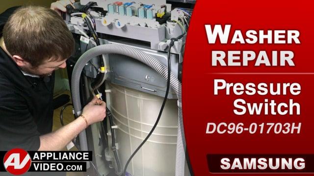 Samsung WA52M8650AV Washer – 1c Error code – Pressure Switch