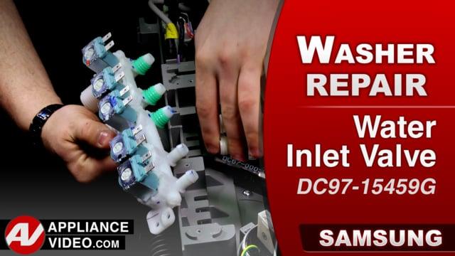 Samsung WA52M8650AV Washer – 4C Error code – Water Inlet Valve