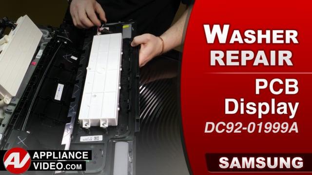 Samsung WA52M8650AV Washer – Buttons will not work – PCB Display