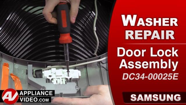 Samsung WA52M8650AV Washer – DC Error code – Door Lock Assembly