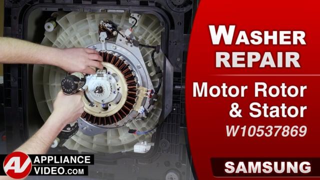 Samsung WA52M8650AV Washer – Grinding noise – Motor Rotor & Stator