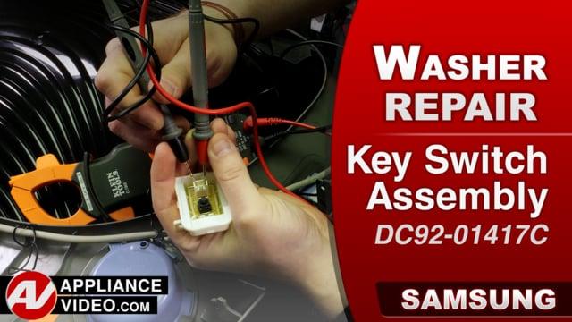 Samsung WA52M8650AV Washer – Water will not dispense – Key Switch Assembly
