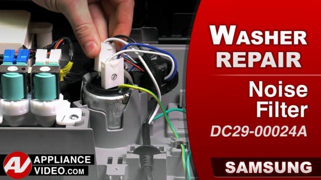 Samsung WA52M8650AV Washer – Will not power on – Noise Filter