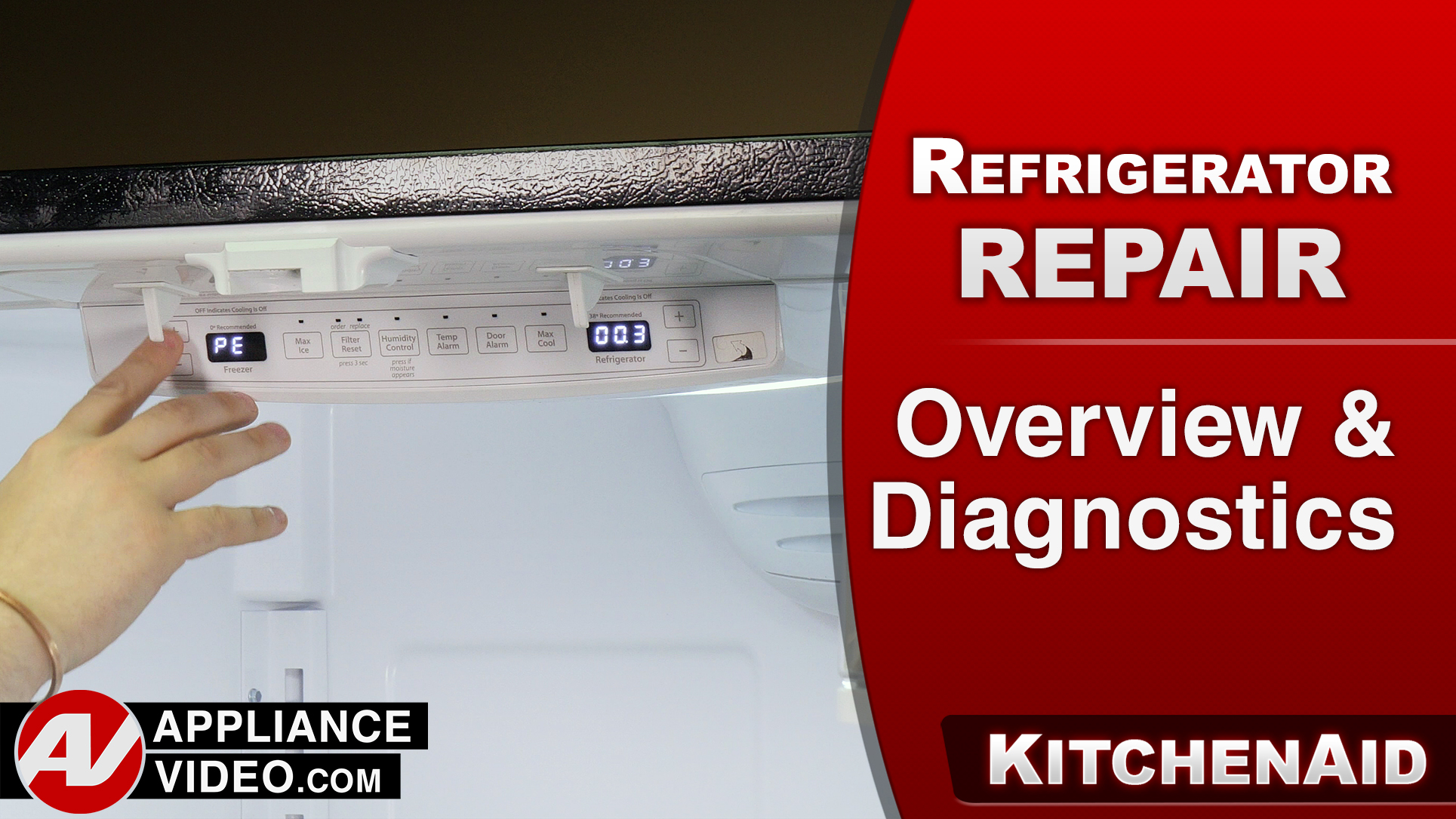 KitchenAid KRFF305EBS Refrigerator – Overview / Diagnostics