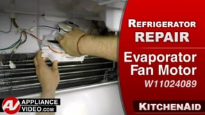 KitchenAid KRFF305EBS Refrigerator – Not cooling in fridge – Evaporator Fan Motor