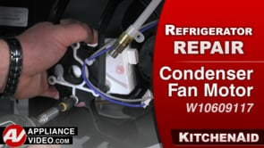 KitchenAid KRFF305EBS Refrigerator – Not cooling – Condenser Fan Motor