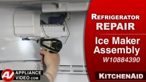 KitchenAid KRFF305EBS Refrigerator – No ice – Ice Maker Assembly