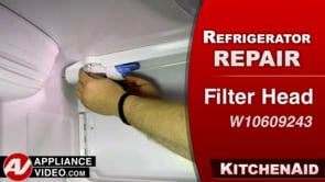KitchenAid KRFF305EBS Refrigerator – Leaking water – Filter Head