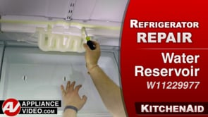 KitchenAid KRFF305EBS Refrigerator – Leaking water inside the fridge – Water Reservoir Assembly