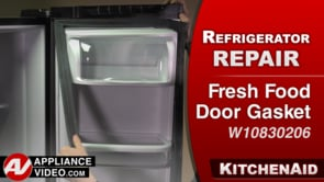 KitchenAid KRFF305EBS Refrigerator – Cosmetic damage – Fresh Food Door Gasket