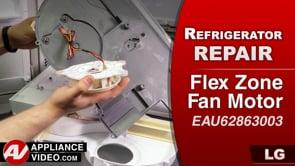 LG LMXC23796S Refrigerator – Poor cooling in fridge – Fresh Food Evaporator Fan Motor