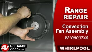 Whirlpool  WFE975H0HZ1 Stove – Unit takes  too long to heat during convection heat – Convection Fan Assembly