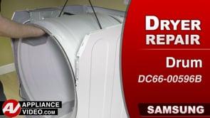 Samsung DV45K6200GW Dryer – Cracked drum – Drum