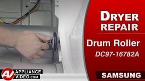 Samsung DV45K6200GW Dryer – Loud during spin – Drum Support Roller