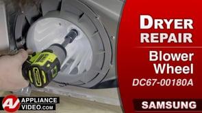 Samsung DV45K6200GW Dryer – Loud noise during spin – Blower Wheel