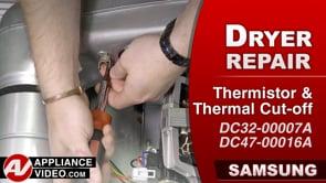 Samsung DV45K6200GW Dryer – Will not heat – Thermistor