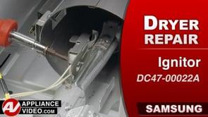 Samsung DV45K6200GW Dryer – Will not heat – Igniter