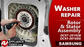 Samsung WF45T6200AW Washer – Drum will not turn – Rotor & Stator Assembly