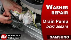 Samsung WF45T6200AW Washer – Will not drain – Drain Pump Assembly
