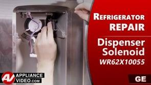 GE PSE25KSHKHSS Refrigerator – Dispenser flapper will not open – Dispenser Chute Solenoid