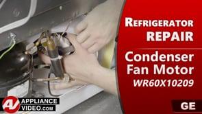 GE PSE25KSHKHSS Refrigerator – Freezer is not freezing – Condenser Fan Motor