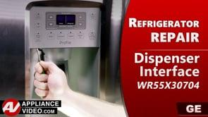 GE PSE25KSHKHSS Refrigerator – Not powering on – Dispenser Interface