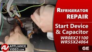 GE PSE25KSHKHSS Refrigerator – Unit will not cool – Start Relay