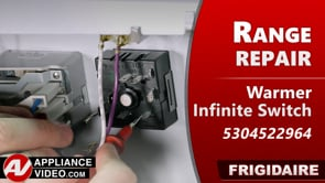 Frigidaire FCRE3052AWB Stove – Element will not turn on – Warmer Element Infinite Switch