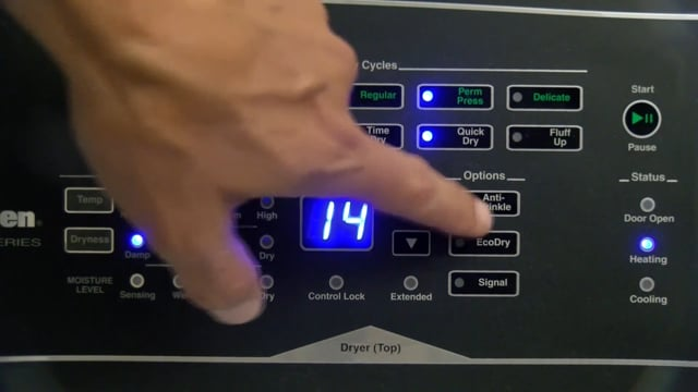 Alliance – Speed Queen – Home Dryer Factory Test Cycle