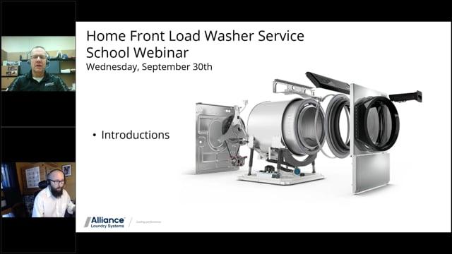 Alliance – Speed Queen – October 2020 Webinar – Front Load Washer Fundamentals