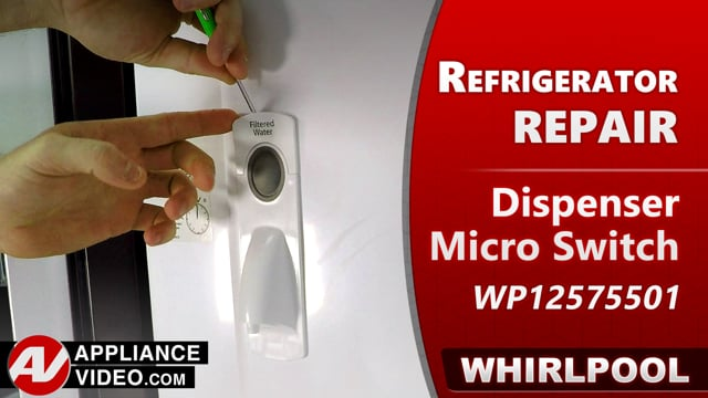 Whirlpool WRF540CWHV01 Refrigerator – Continously dispensing water – Dispenser Micro Switch