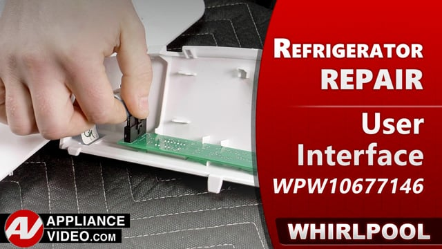 Whirlpool WRF540CWHV01 Refrigerator – Buttons are unresponsive – User Interface