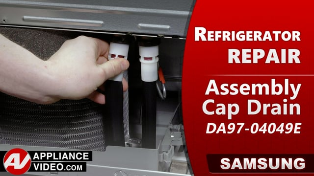Samsung RF22R7551DT/AA Refrigerator – Water leaking in Fresh Food or Freezer – Drain Cap Assembly