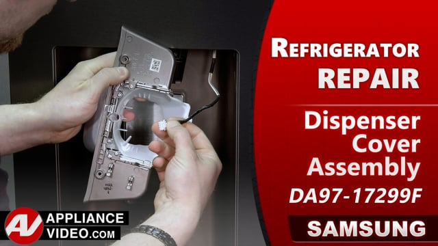 Samsung RF22R7551DT/AA Refrigerator – Can't switch between ice and water – Dispenser Cover Assembly