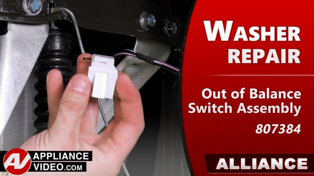 Speed Queen – Alliance TR7 Washer – Will not go into spin – Out-of-Balance Switch