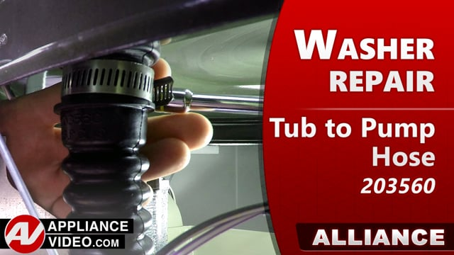 Speed Queen – Alliance TR7 Washer – Leaking water – Tub-to-Pump Hose